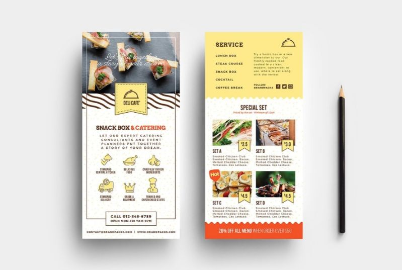Catering DL Flyer Templates