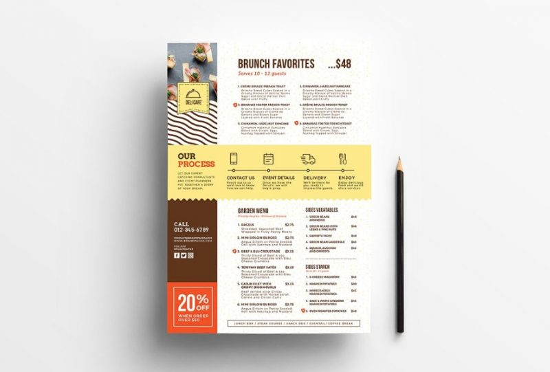 Catering Menu Flyer Templates