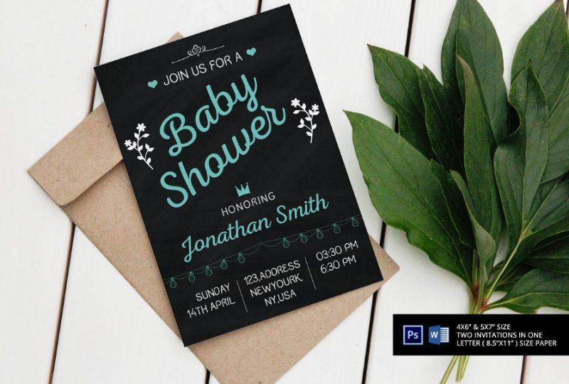 Chalkboard baby Shower Templates