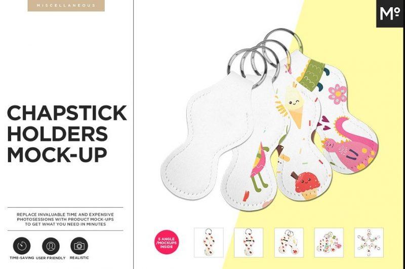 Chapstick Holder Mockup PSD