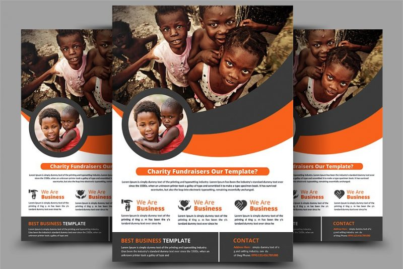 Charity Fundraiser Flyer Templates