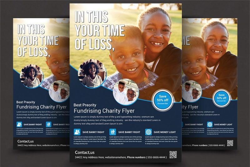 Charity Fundraisers Promo Template