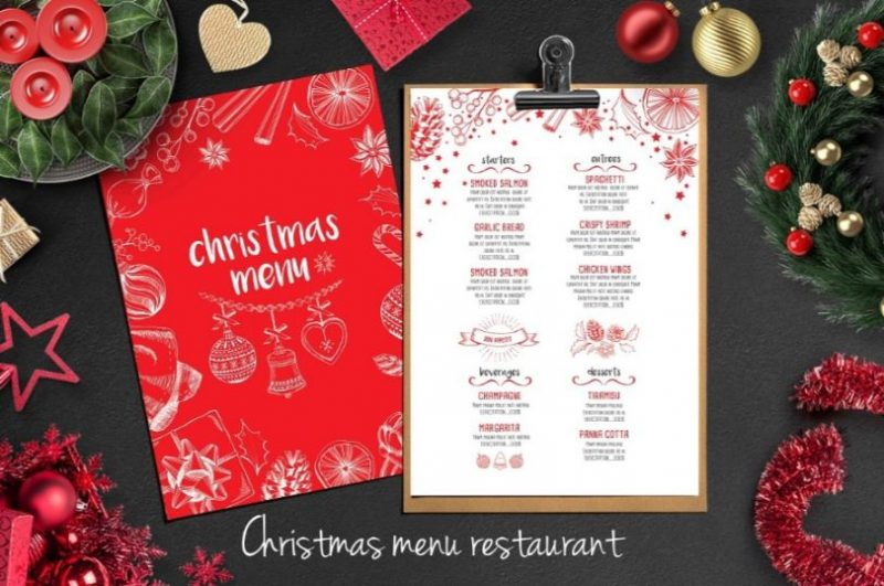Christmas Restaurant Flyers