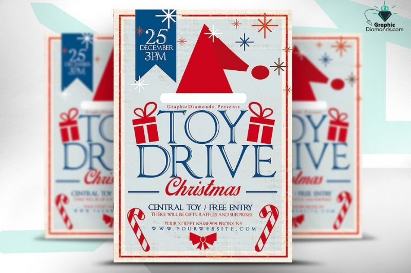 11 Toy Drive Flyers Template Psd And Ai Graphic Cloud