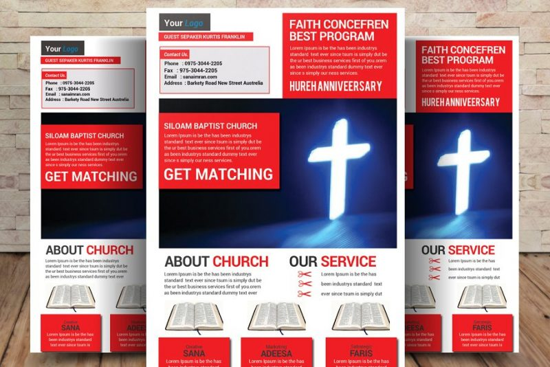Church Fundraiser Poster Template