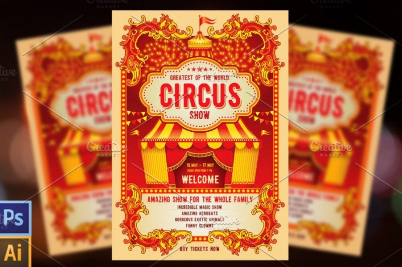 11+ Circus Flyer Template PSD and Ai Editable - Graphic Cloud