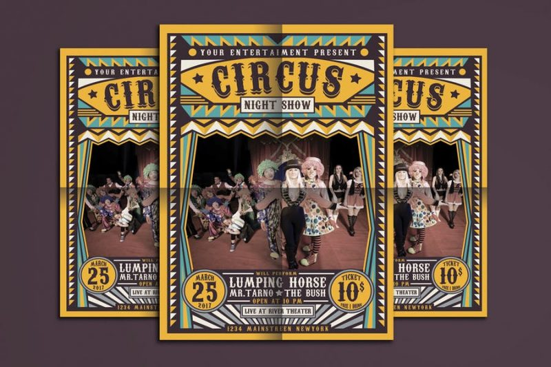 Circus Night Show Flyers