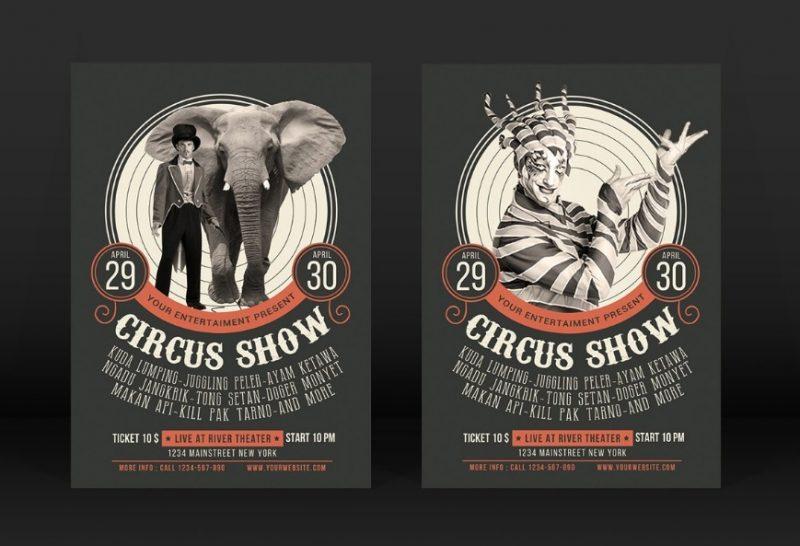 Circus Show Flyer Template PSD