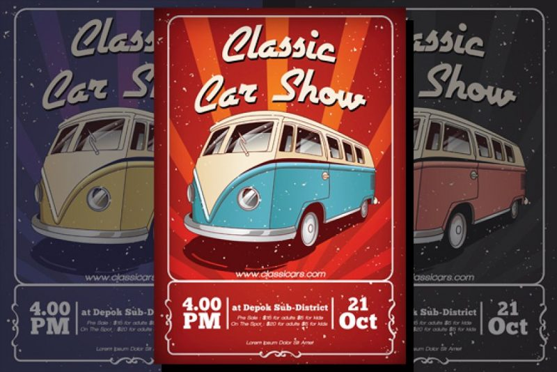 Classic Cars Flyer Template