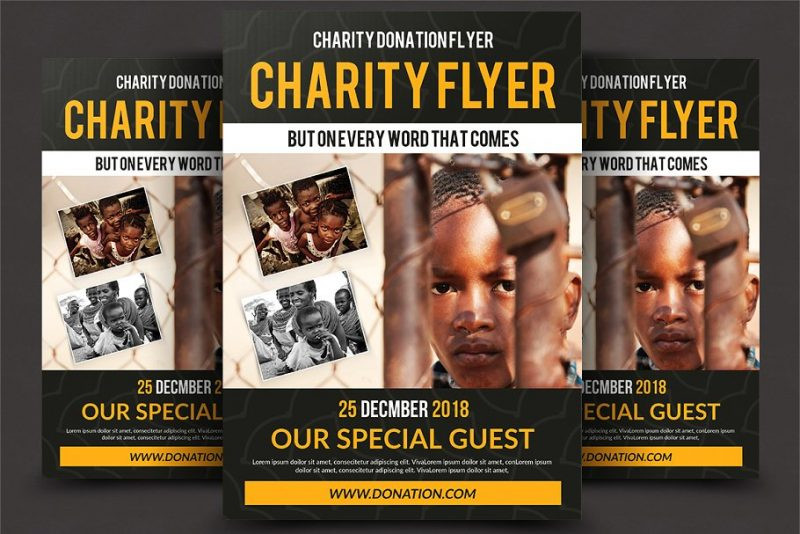 Clean Charity Flyers PSD