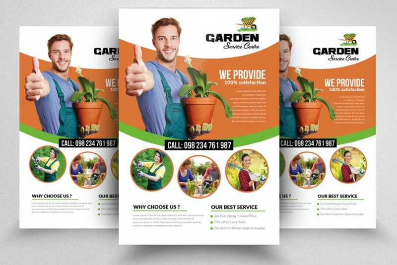 Clean Corporate Lawn Care Flyers