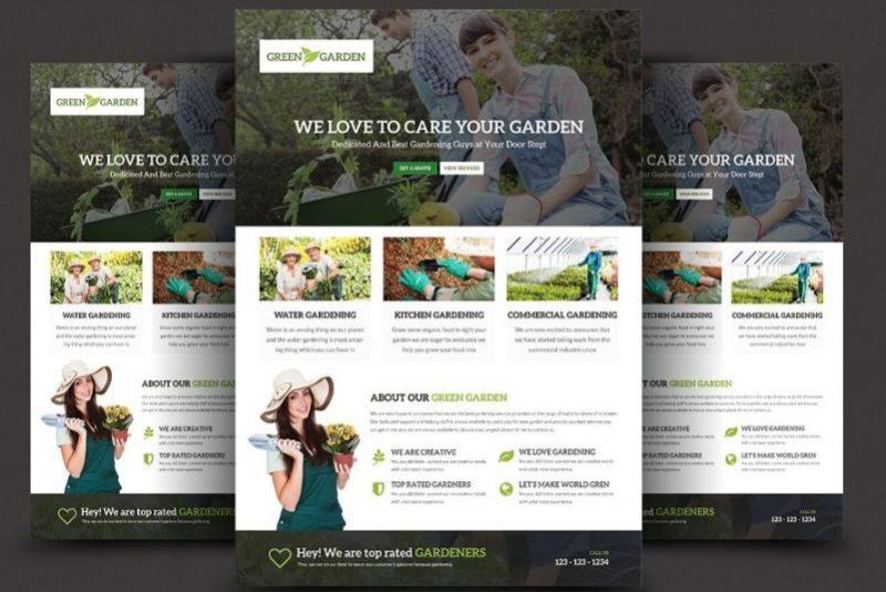 Clean Gardening Flyers PSD