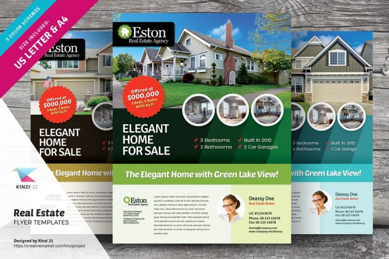 Clean Real Estate Flyer Template