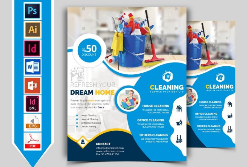 Cleaning Service Flyer All Formats