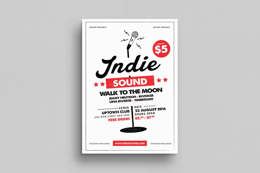 Club Band Flyer Template