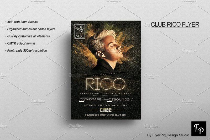 Club Rico Flyer Templates