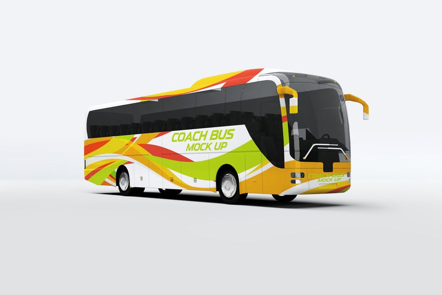 Coach Bus Mockup PSD