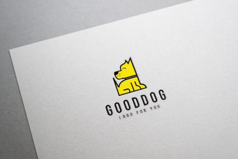 Colorful Dog Logo Design