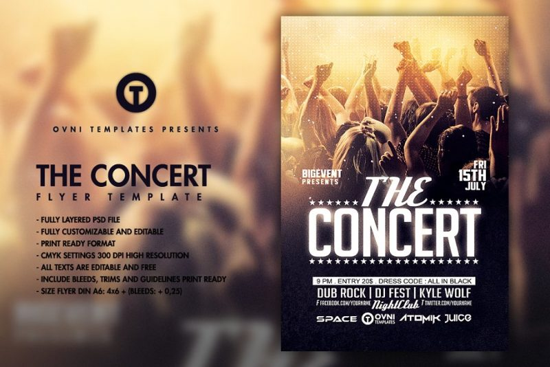 Concert Band Flyer Templates