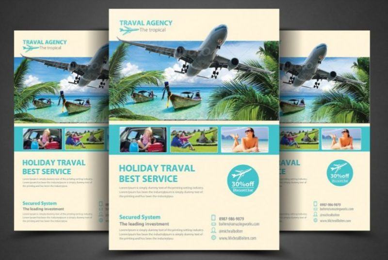 19+ Travel Flyers Template for Business Promotion