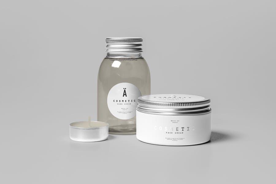 Cosmetics Jar Mockup PSD