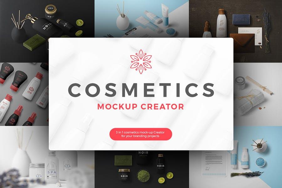 Cosmetics Mockup Scene Generator