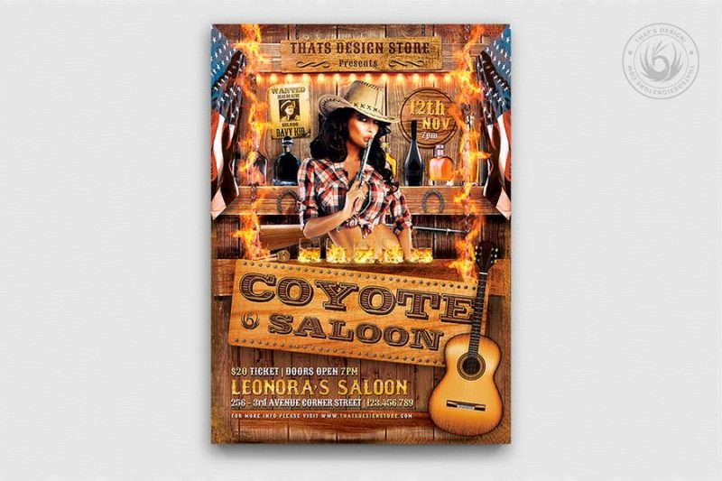 Coyote Bar Flyers PSD
