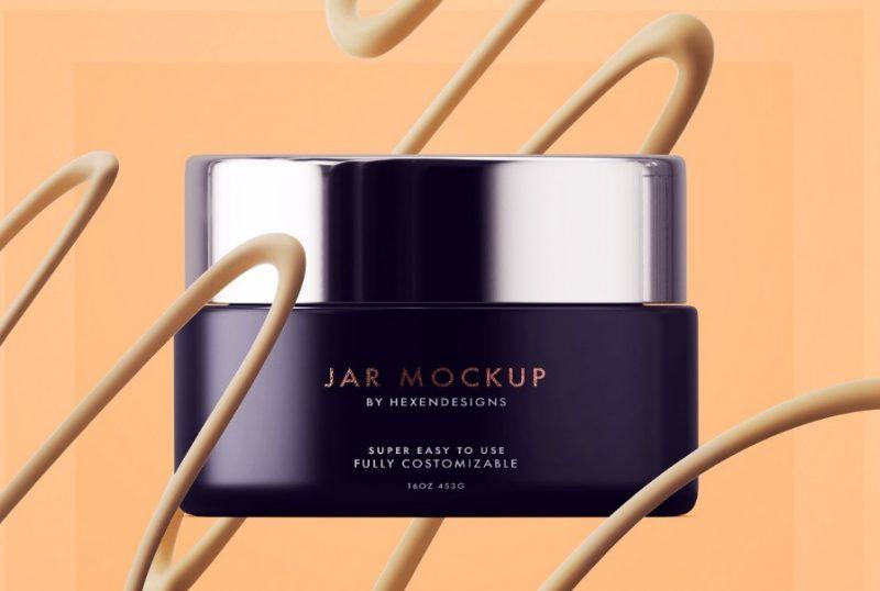 Cream Jar Branding Mockups