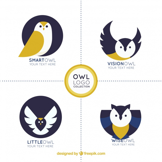 Creative Owl Logo Set