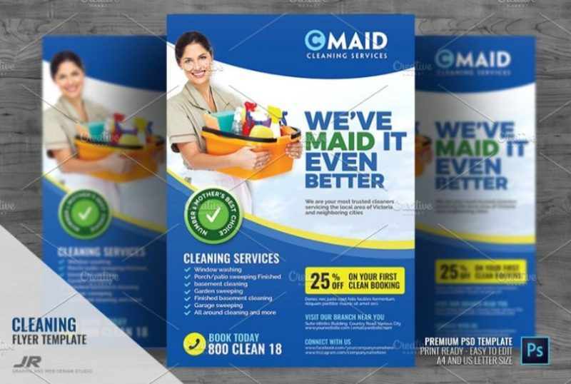 Customizable Cleaning Flyers