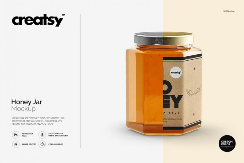 Customizable Honey Jar Mockup