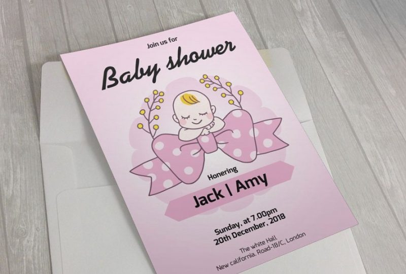 Cute Baby Shower Flyer Template