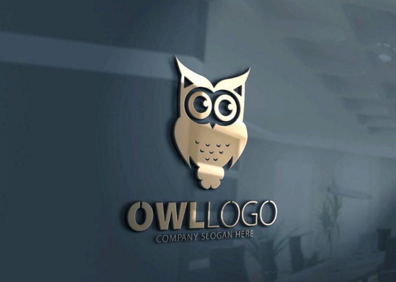 Cute Owl Logo Free Download