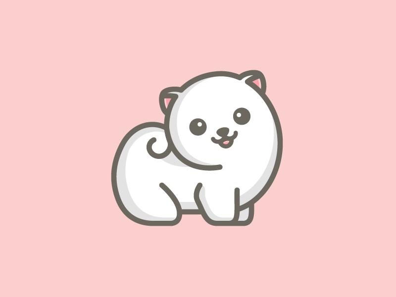 Cute Pomeranian Logo Idea