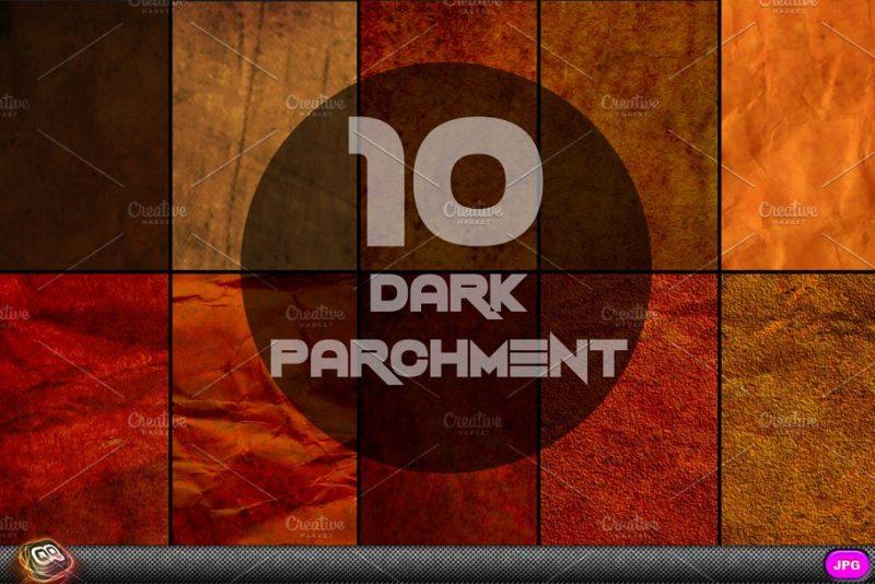 Dark Parchment Textures Background
