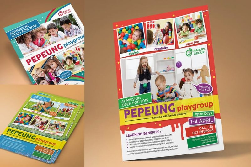 Daycare Flyer Template PSD
