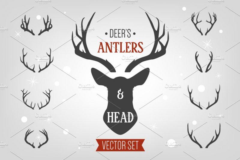 Deer Head Logo Designs