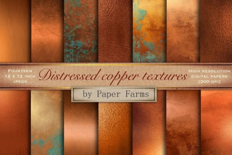 Distressed Copper Textures Wallpapers
