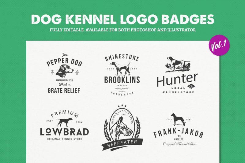 Dog Logo Badges
