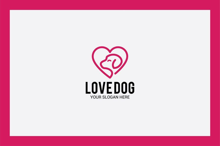 Dog Love Logo Design