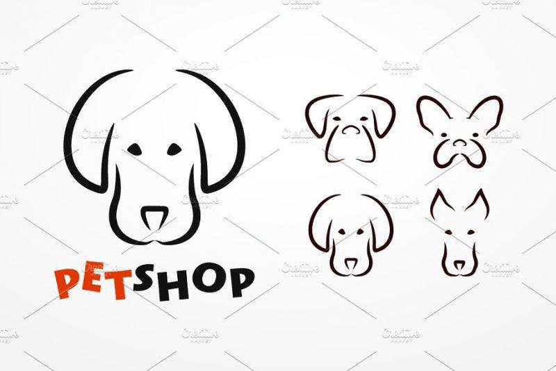 Dog Pet Store Logo Design