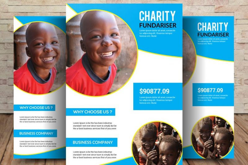 Donations Flyer Templates PSD