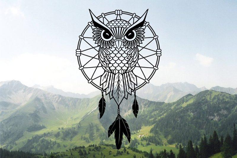 Dream Catcher Owl Logo