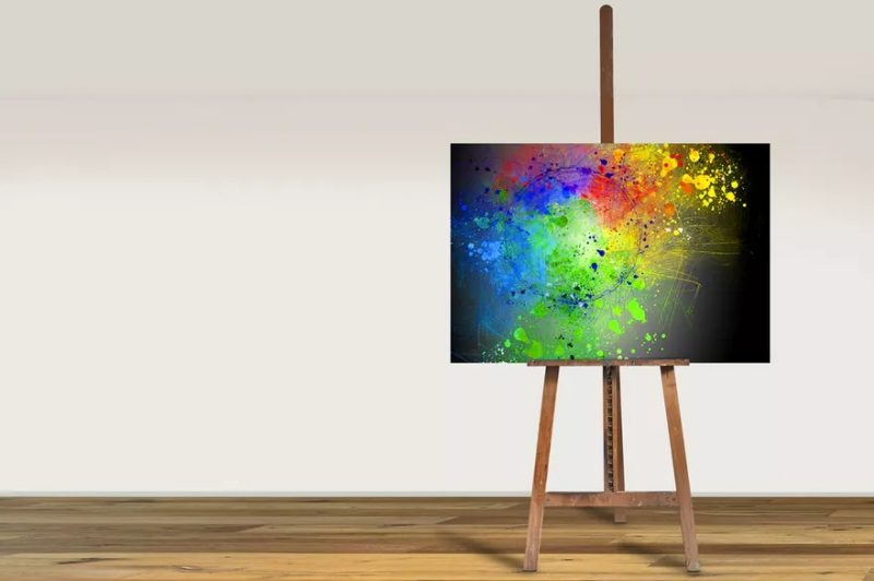 Easel Painting Mockup PSD