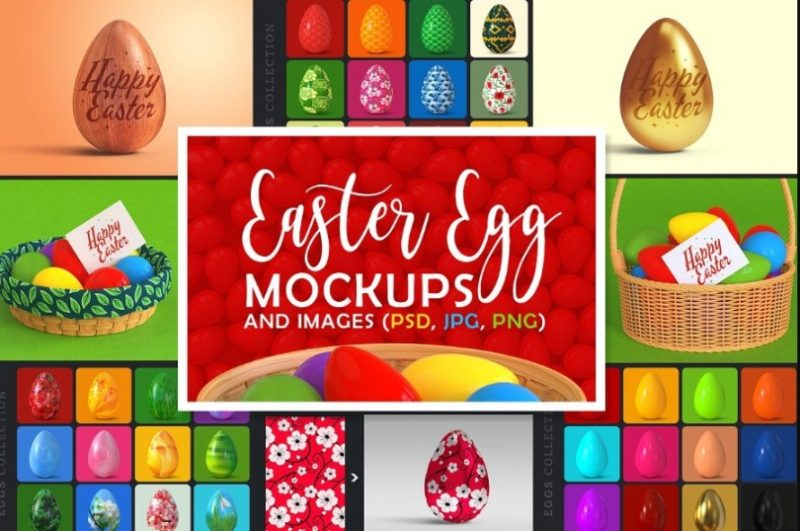 Easter Eggs Mockup and Image