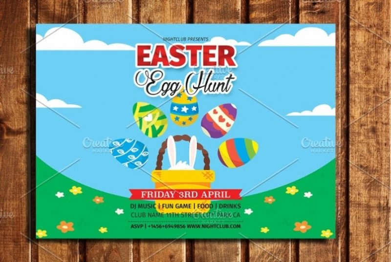 Easter Event Flyer Template PSD