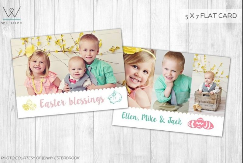 Easter Greetings Card Template