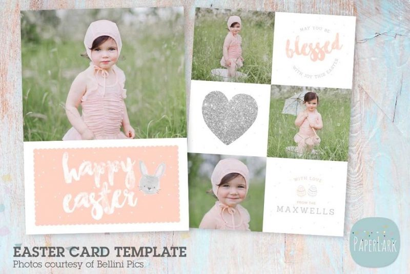 Easter Photo Card Template