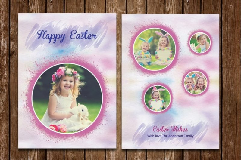 Easter Photo Cards Template
