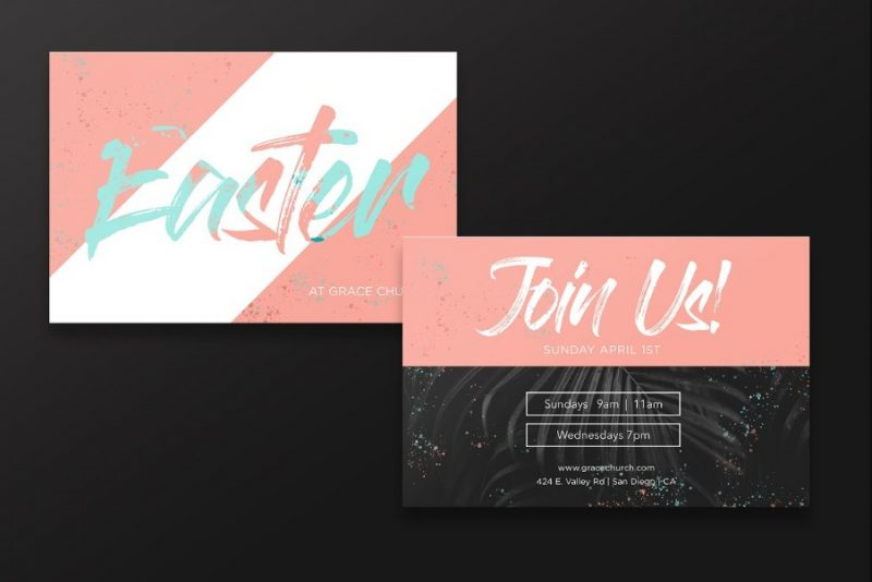 Easter Service Invitation Card